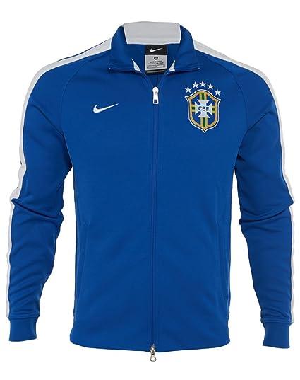 Nike Mens Track Jacket - Nike Brasil CBF Authentic N98 Varsity Royal/White A31t3937