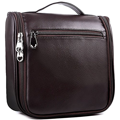 Hanging Leather Toiletry Bag - 5