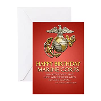 Amazon cafepress pk 20 happy birthday marine corps cafepress pk 20 happy birthday marine corps greeting cards greeting card m4hsunfo
