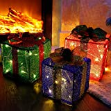 Twinkle Star Set of 3 Christmas Lighted Pop Up Gift