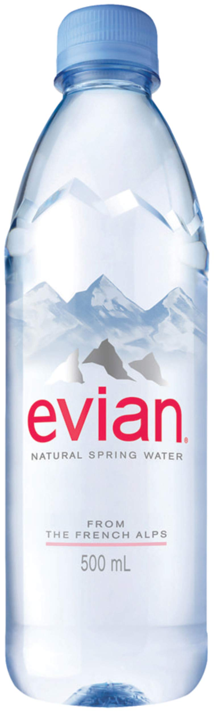 evian Natural Spring Water Bottles, Naturally Filtered Spring Water in Individual-Sized Plastic Bottles, 16.9 Fl Oz, Pack of 24 by evian (Image #3)