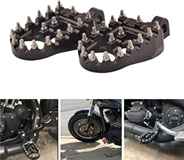 YC 1 Pair Motorcycle Engine Guard Highway Foot Pegs Footpeg Kit for Harley-Davidson Touring Electra Road King Street Glide Touring Model Short Angled