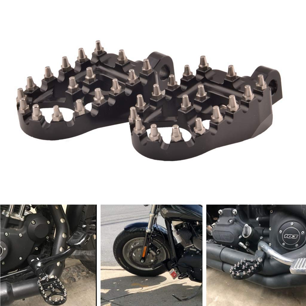 Wide Fat Footpegs Foot Pegs Chopper Bobber Style for Sportster 883 Iron 883 Dyna