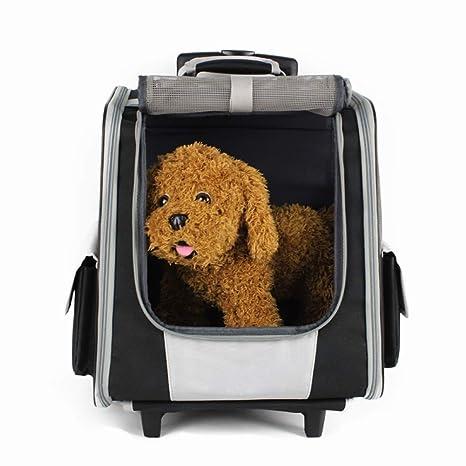 WLDOCA Mochila/Carrito para Perros 2 En 1 - Transportín para Perros Y Gatos (