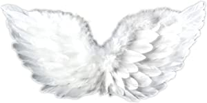 Touch of Nature Feather Adult Angel Wing 28x16 White w/Elastic Straps 1pcHalo Included (10944)