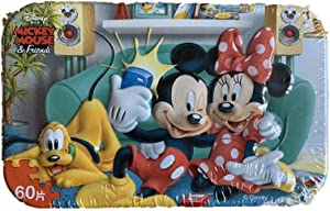 Flower_piggy Disney Indoor Sport for Kids Educational Puzzle Girl Boy Mickey Mouse Snow White (Mickey Mouse)