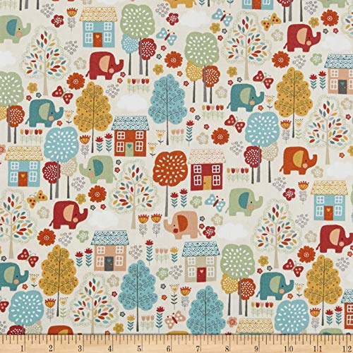 (Andover Makower UK Ellie Scenic Fabric, Cool, Fabric By The)