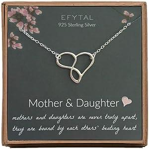 Amazon.com: Collar de plata de ley 925 con forma de corazón ...