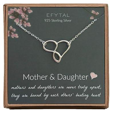 Amazon.com: Collar de plata de ley 925 con diseño de corazón ...