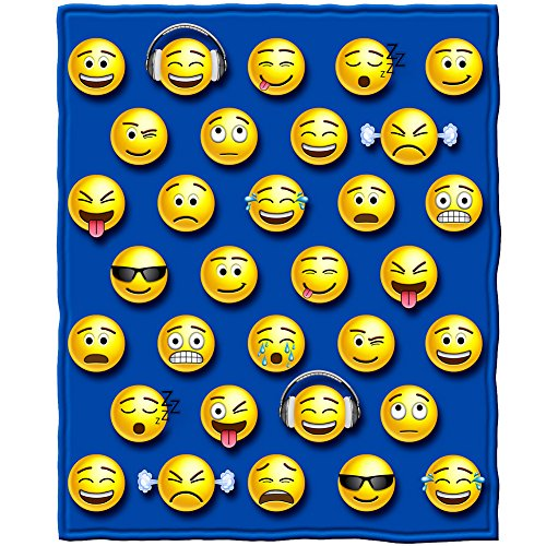 Emoji Fleece Throw Blanket