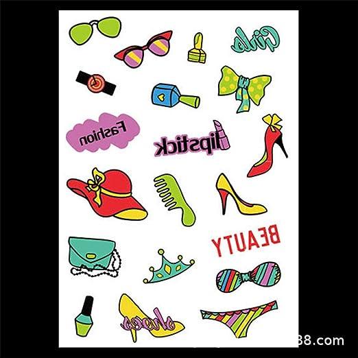 tzxdbh 5 Piezas de Dibujos Animados Pegatinas de Tatuaje de ...