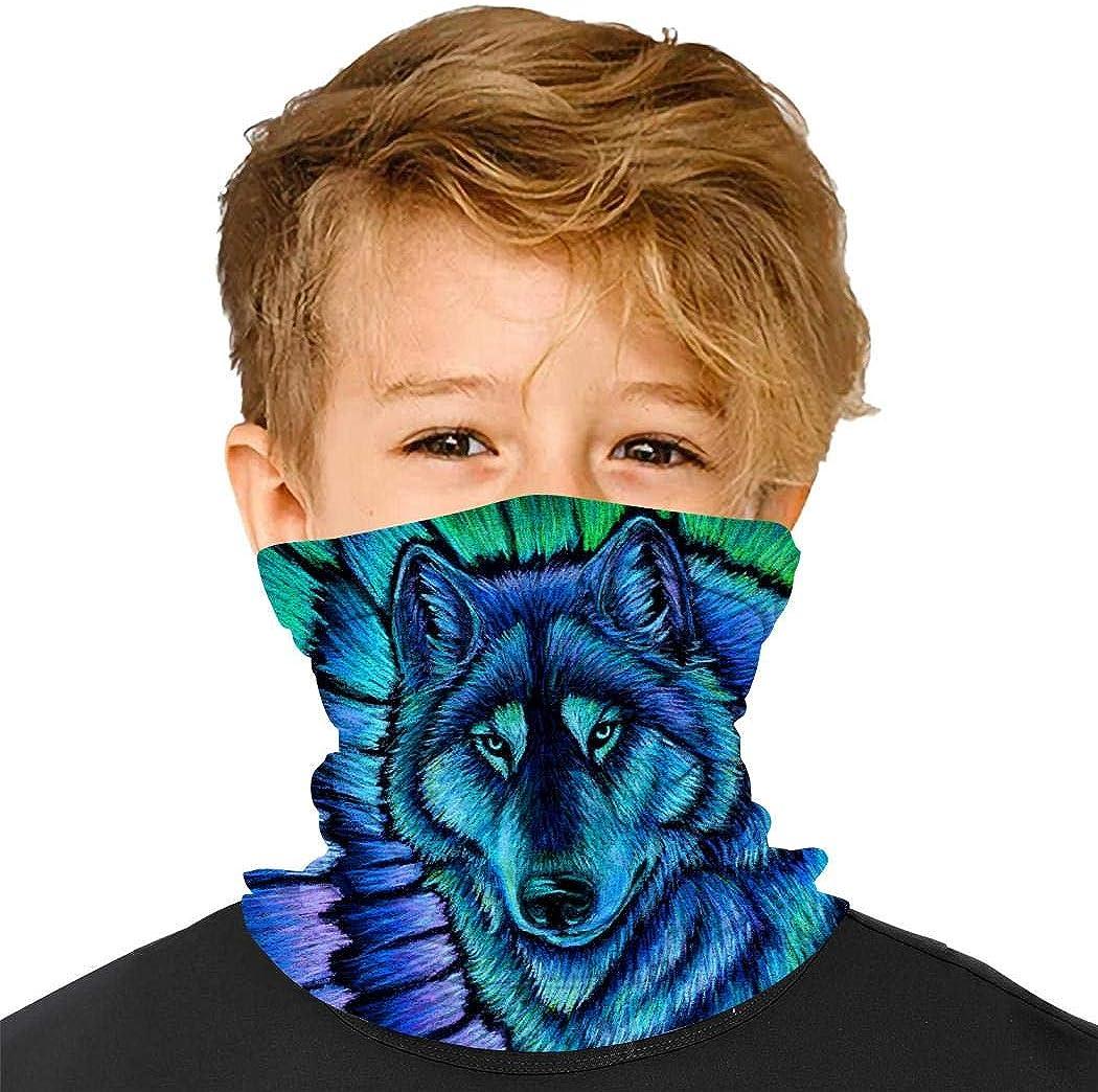 YUSMO Trippy Hemp Mariguana Weed Leaf Reusable Bandana Kids Dust Face Masks Neck Gaiter Balaclava