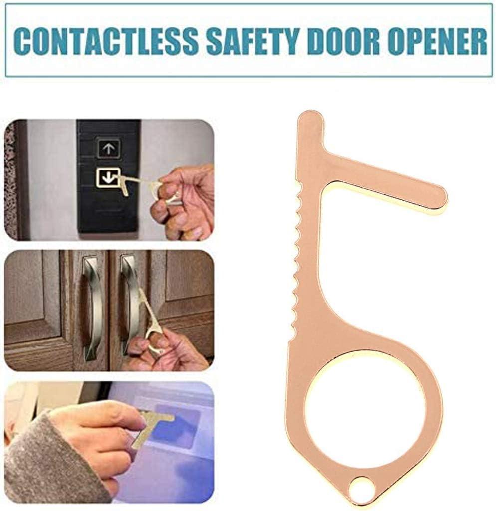 aislamiento,3PCS botones limpios mango de puerta herramienta de llavero higi/énico Abrepuertas de mano sin contacto protecci/ón de seguridad