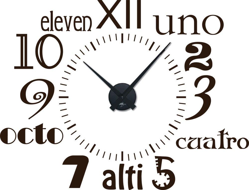Amazonde Graz Design 800183 BK 080 Wandtattoo Uhr Wanduhr Modern Zahlen Und Schrift In