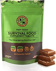 Prep-Right Survival Food Tablets - Chocolate 24 Count