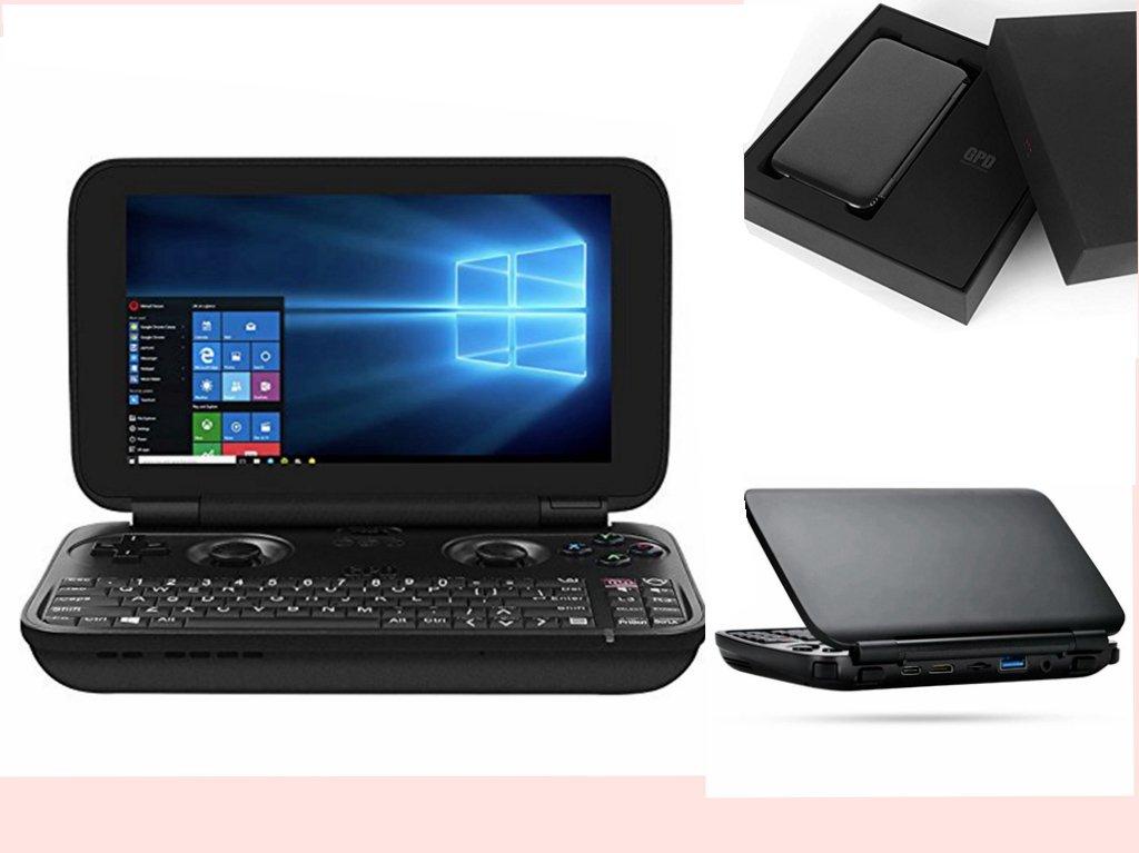 Handheld Game Consoles,GPD WIN Mini Laptop Gamepad Aluminum shell 5.5'' Touchscreen with Win 10 Intel X7-Z8750 Quad Core Processor 4GB RAM/64GB ROM( Black)