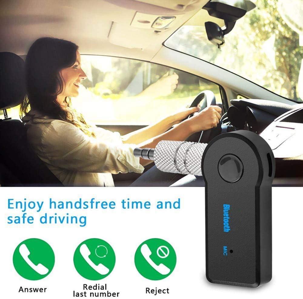 zhuangyulin6 Receptor Bluetooth Receptor Bluetooth 3.5mm AUX Audio Plug Transmisor inal/ámbrico Adaptador de m/úsica para MP3 Coche Altavoz Auriculares Manos Libres Llamada