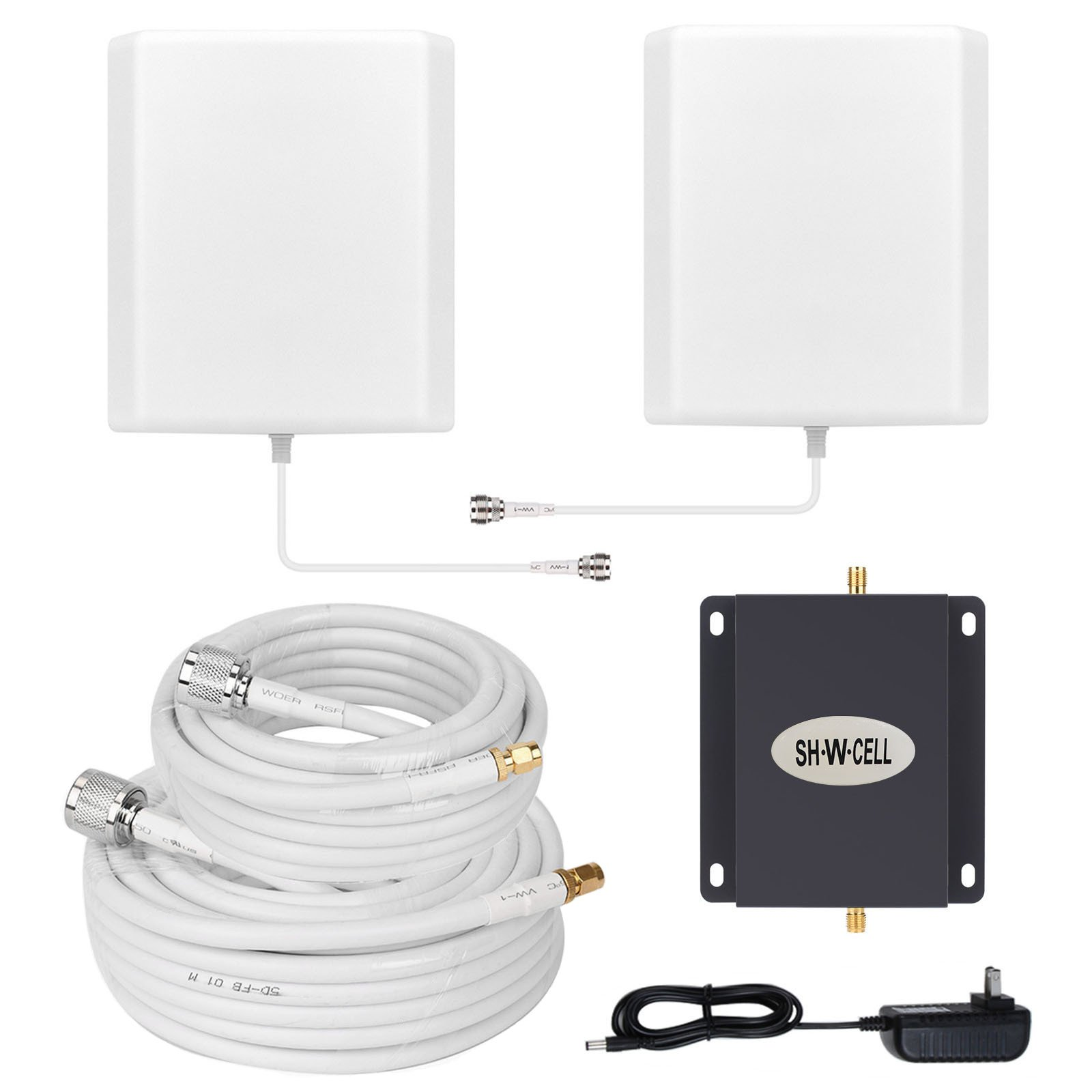 T-Mobile AWS MetroPCS 3G 4G LTE Band 4 1700/2100MHZ Cell Phone Signal Booster Mobile Amplifier Repeater SHWCELL Strength Signal Including Indoor/Outdoor Panel Antennas for Home Office Basement