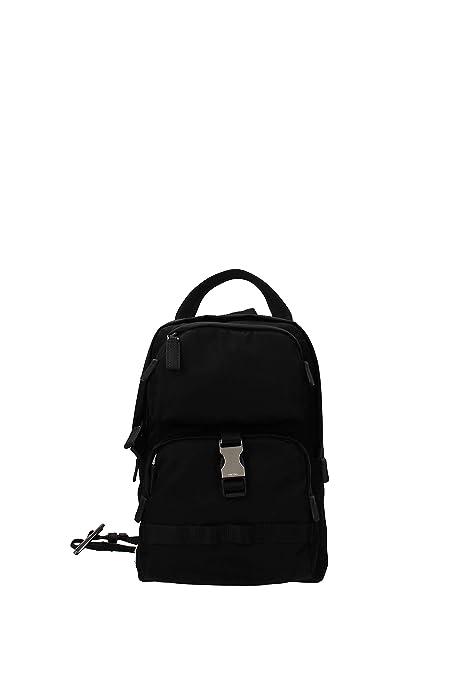 Prada mochila bolso de hombre en Nylon nuevo montagn negro: Amazon.es: Zapatos y complementos