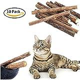 Warmiehomy Bâtons de Matatabi pour Chat Jouets à l'Herbe à Chat Chaton Naturel Bio Brosser à Dents pour Chat 10psc