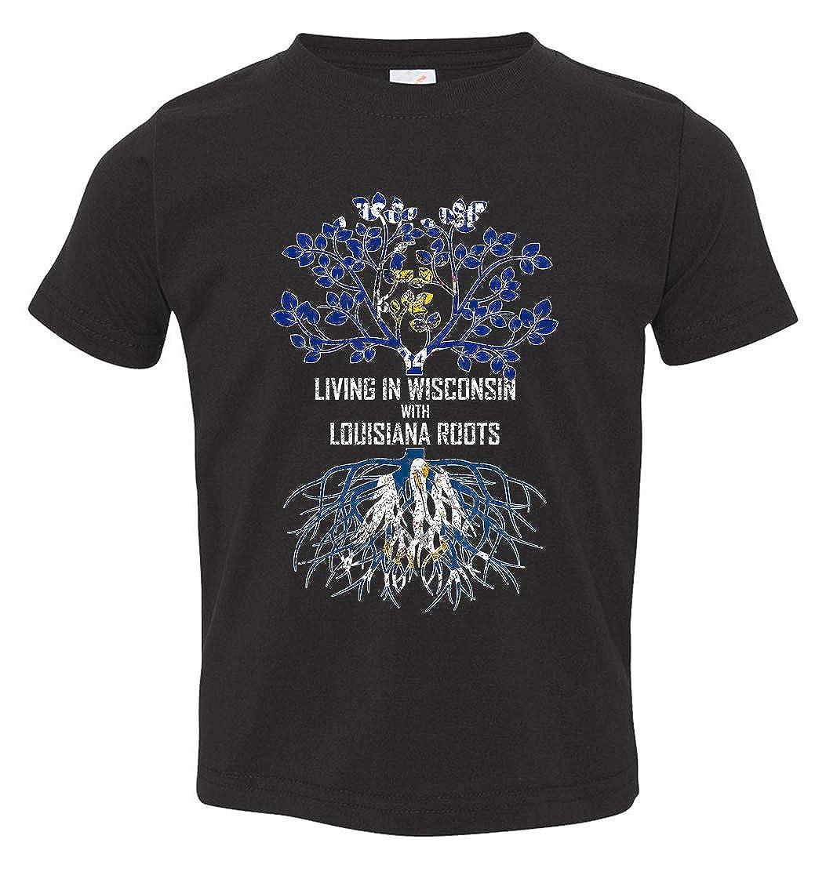 Tenacitee Babys Living in Wisconsin with Louisiana Roots Shirt