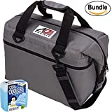 ao cooler vinyl - AO Coolers Canvas Series Soft Cooler with High-Density Insulation, Size 48-Can, 56 Qt. - #AO48CH - Charcoal & Fit & Fresh Cool Coolers Slim Ice 4-Pack (Bundle)