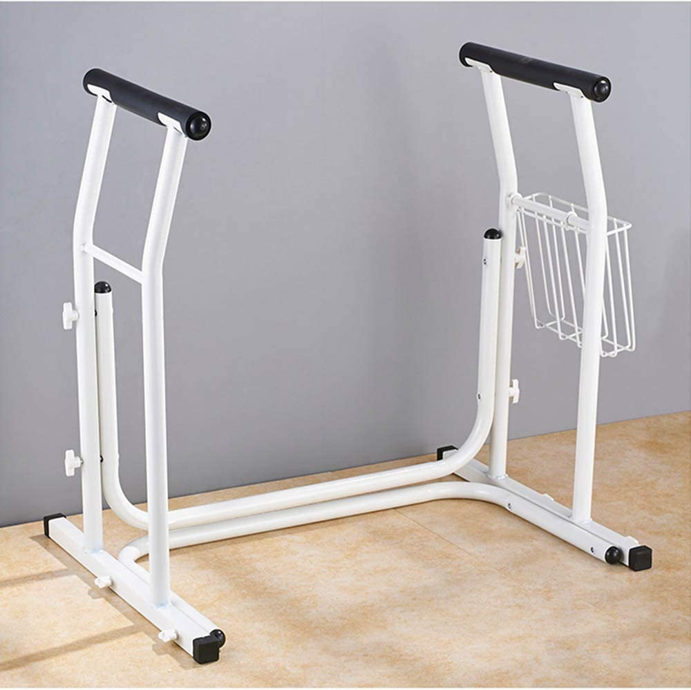 XIHAA Stand Alone Toilet Rail, Medical Bathroom Safety Assist Frame Grab Bars Railings Elderly, Handicap Disabled
