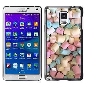 TopCaseStore / la caja del caucho duro de la cubierta de protección de la piel - Candy Pastel Color - Samsung Galaxy Note 4 SM-N910F SM-N910K SM-N910C SM-N910W8 SM-N910U SM-N910