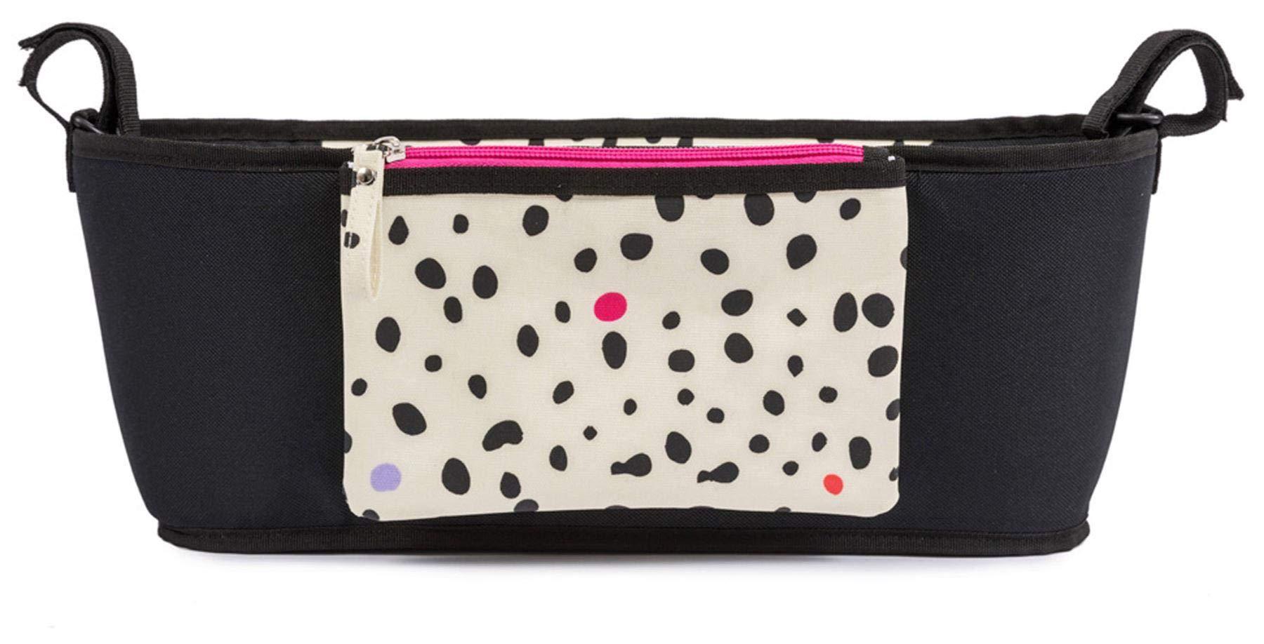 Pink Lining Stroller Organiser - Dalmatian Fever