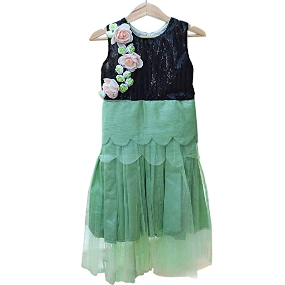 PinkBlue India Kids Girl Floral Party Wear Dress Baby Indian Wedding ...