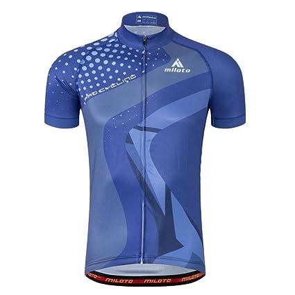 b46bc25513c Amazon.com   Calmmood Men s Cycling Jerseys Biking Shirts Short Bike  Clothing Full Zip Bicycle Jacket with Pockets   Sports   Outdoors