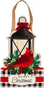 Evergreen Flag Beautiful Merry Christmas Cardinal Hanging Door Décor - 14 x 1 x 23 Inches Fade and Weather Resistant Outdoor Decoration for Homes, Yards and Gardens