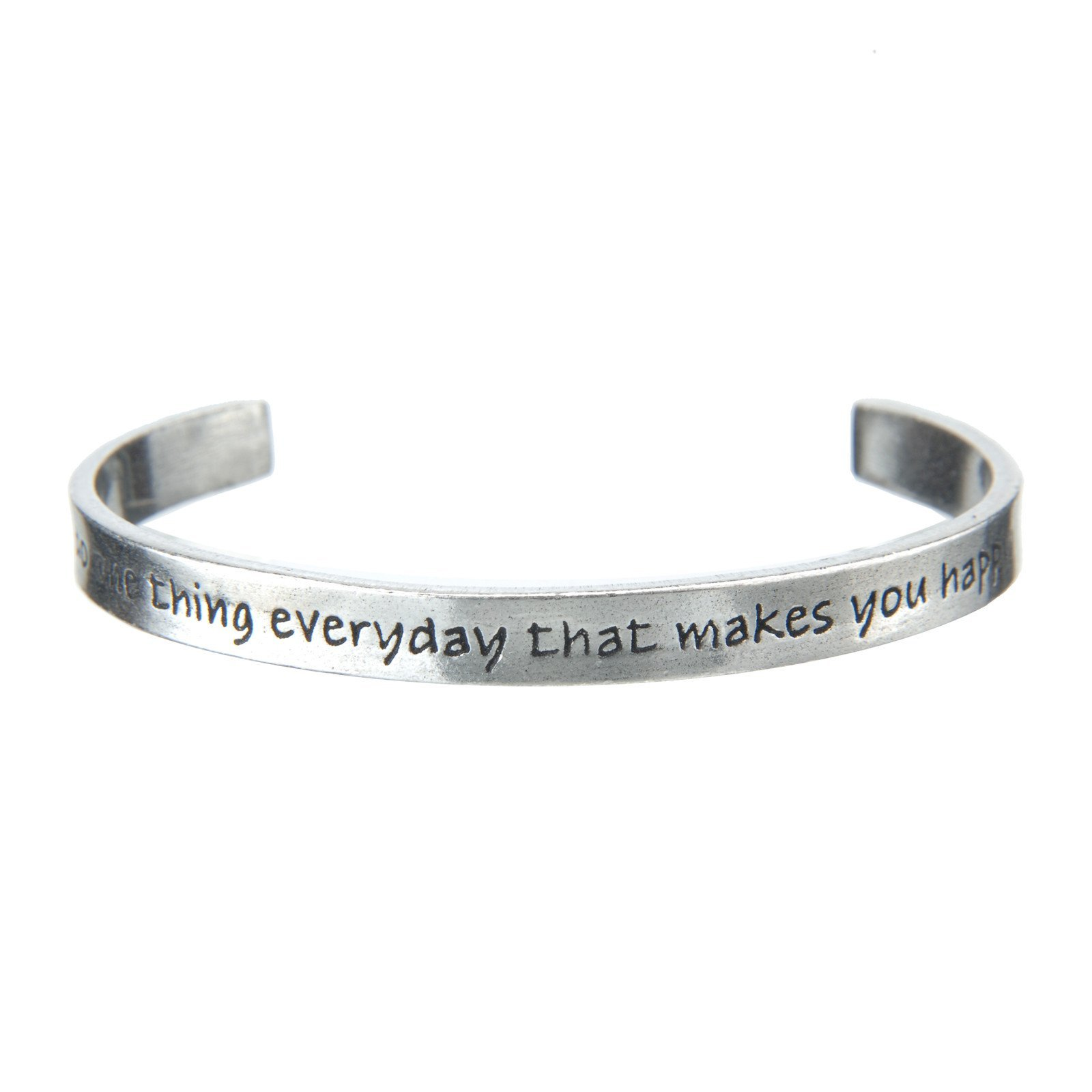Do One Thing That Makes You Happy Every Day Cuff Bracelet by WHD001