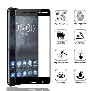 LOUQBH Cristal Templado con Tapa Completa de 2 Piezas para Nokia ...