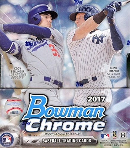 Prospects Baseball Cards Box - 2017 Bowman Chrome Baseball Hobby Box 12 Packs of 5 Cards; 2 Autographs/Box More Great Inserts Great Inserts …
