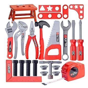 f941e4acf Children's Toolbox Set Simulation Repair Tool Drill Screwdriver Repair Kit  House Play Toys Tool Set Puzzle