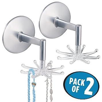 Amazoncom mDesign Spinning Jewelry Organizer Hooks for Bracelets