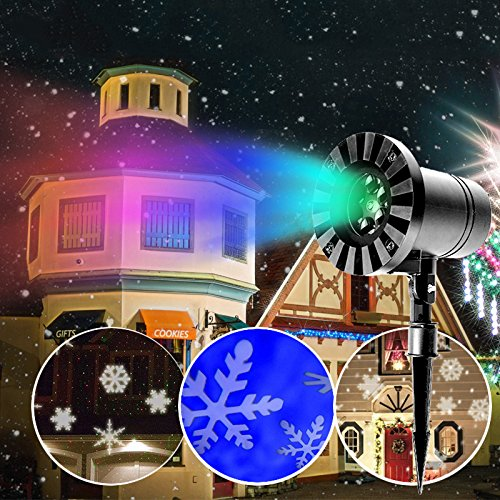 Halloween Projector Led Slide Show Night Light 12 Switchable Patterns Lens Waterproof Moving Rotating for Decoration, Christmas, Birthday Party, Other Holiday/Celebrations