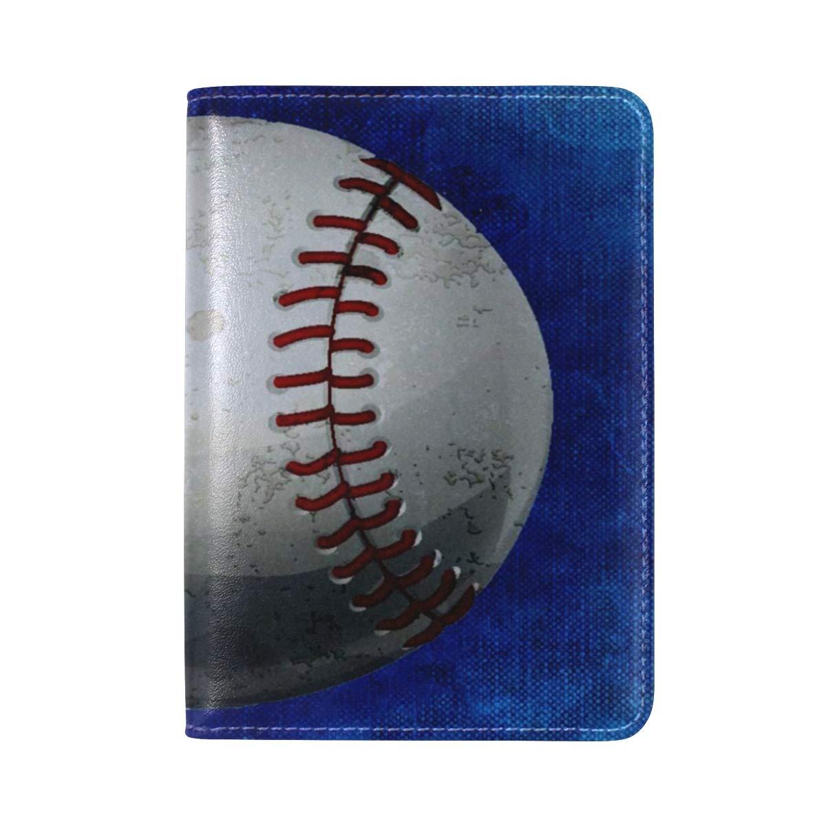 Amazoncom Angry Baseball Blue Pu Leather Passport Holder Cover