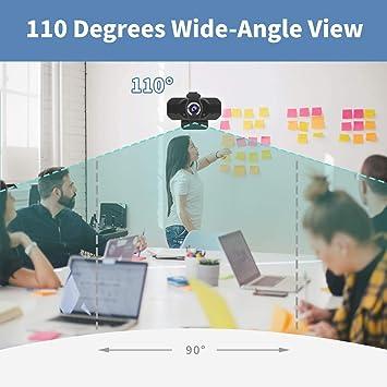 Webcam con Micrófono Cámara Pc de Transmisión en Vivo HD Web Cámara de Video con Cubierta de Privacidad Webcam USB para Video Llamada Grabación Juegos Conferencia en Línea: Amazon.es: Electrónica