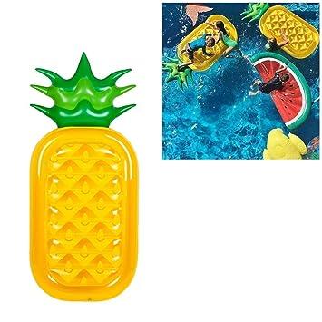 AOLVO Watermelon Flotador de Piscina, Hinchable, Mitad sandía, Piscina, Flotador, Playa