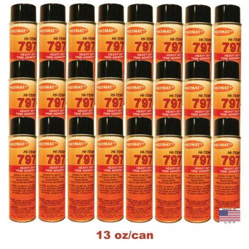- QTY24 Polymat 797 Hi-Temp Spray Adhesive Camaro Firebird Chevelle HEADLINER GLUE
