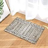 Old Vintage Wood with Metal Texture Decor Bath Rugs Non-Slip Doormat Floor Entryways Indoor Front Door Mat Kids Bath Mat 15.7X23.6In Bathroom Accessories