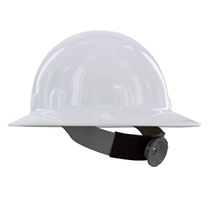Fibre-Metal by Honeywell E1RW Supereight Thermoplastic Full Brim Hard Hat  with 8 Pt  Ratchet Suspension, White
