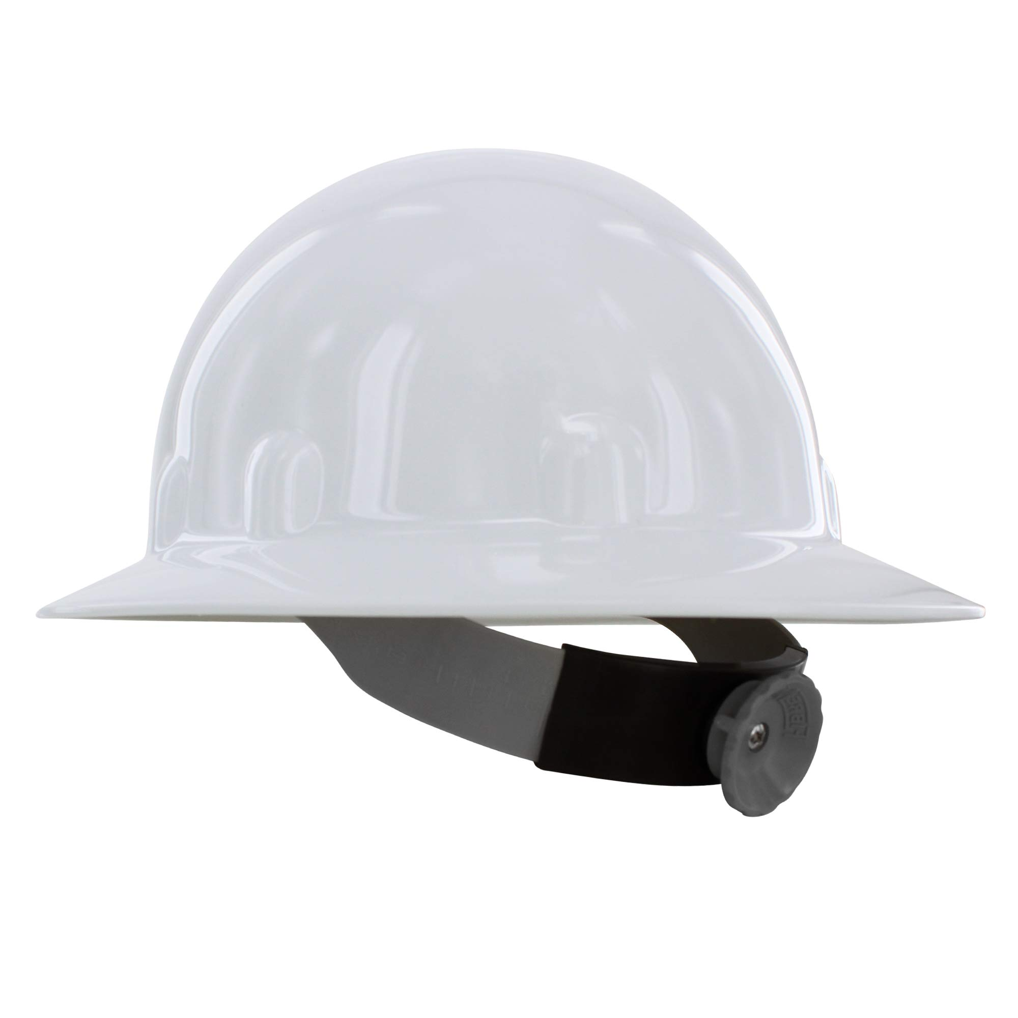 Fibre-Metal by Honeywell E1RW Supereight Thermoplastic Full Brim Hard Hat with 8 Pt. Ratchet Suspension, White by Honeywell (Image #1)