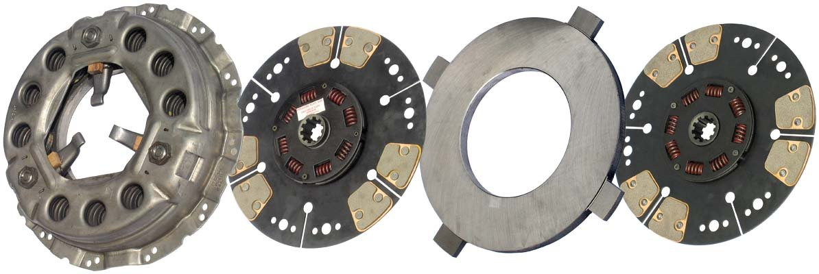 IATCO LP1989-138-IAT 330mm x 1-1/2'' Stamped Steel Clutch (Two-Plate, Push-Type, Round / 8-Spring, 2000 Plate Load / 650 Torque)