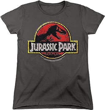 Popfunk Jurassic Park Stone Logo Women's T Shirt & Stickers