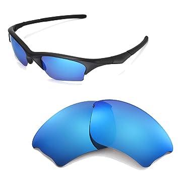 Walleva Ersatzgläser für Oakley Half Jacket Sonnenbrille - Mehrfache Optionen (Feuerrot Polarisierte Linsen + Feuerrot Gummi) 3bKLUYhSu