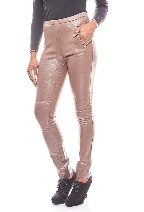 b0c9617989250 Ashley Brooke schmale Hose Damen Jeggings in Leder-Optik Slim Fit ...