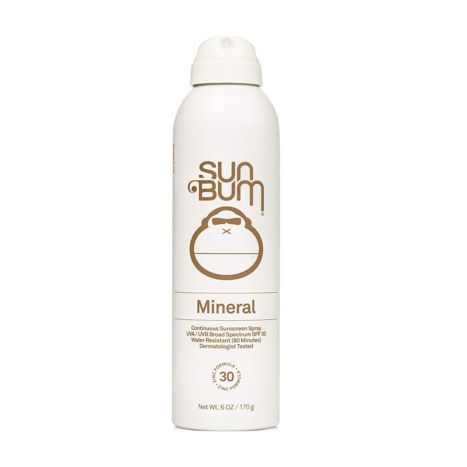 Sun Bum Mineral SPF 30 Whipped Sunscreen Spray   Vegan and Reef Friendly (Octinoxate & Oxybenzone Free) Broad Spectrum Natural Sunscreen with UVA/UVB Protection with Zinc   6 oz (20-62430): Beauty